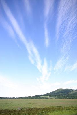 八島湿原の空