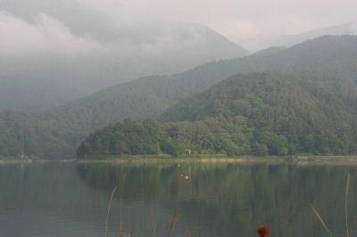 河口湖対岸