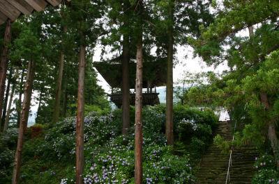 妙法寺石段脇