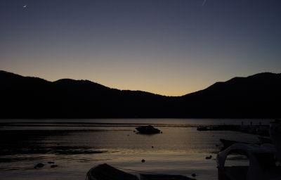芦ノ湖の日没
