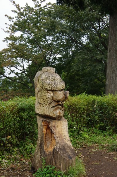 23天狗の彫り物