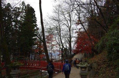25赤い橋と紅葉